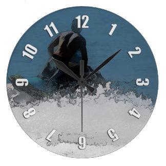 Ready to Make Waves - Jet Skier Large Clock