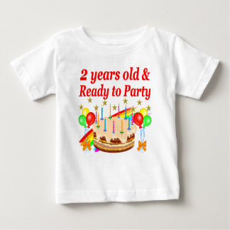 READY TO PARTY 2ND BIRTHDAY CAKE DESIGN BABY T-Shirt