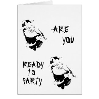 READY TO *PARTY* CHRISTMAS STYLE? ADULT CARD