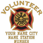 Ready to Personalise Volunteer Firefighter Badge Polo