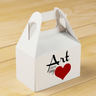 Ready to personalize  ART STARTS MY ♥ favor box