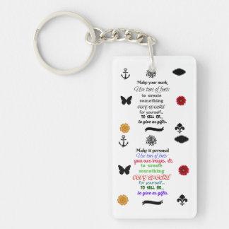 Ready to personalize  Keychain