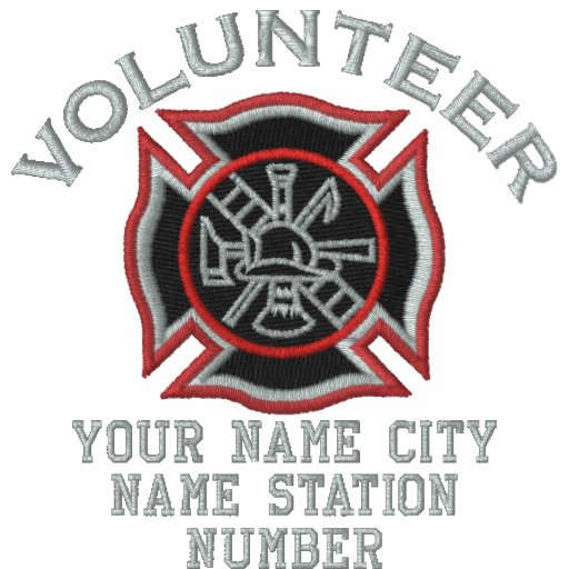 Ready to Personalize Volunteer Firefighter Badge Embroidered Polo Shirts