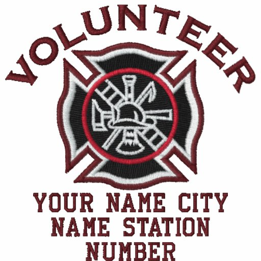 Ready to Personalize Volunteer Firefighter Badge Polos