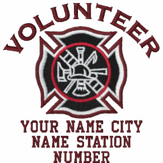 Ready to Personalize Volunteer Firefighter Badge Polo Shirts