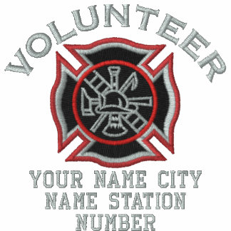 Ready to Personalize Volunteer Firefighter Badge Polo
