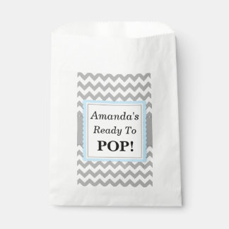 Ready To Pop Favor Bags, Chevron and Blue, custom Favour Bag