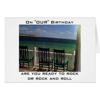 READY TO ROCK OR ROCK/ROLL MUTUAL BIRTHDAY CARD