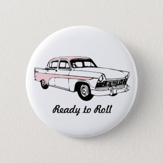 Ready to Roll Vintage Car 6 Cm Round Badge