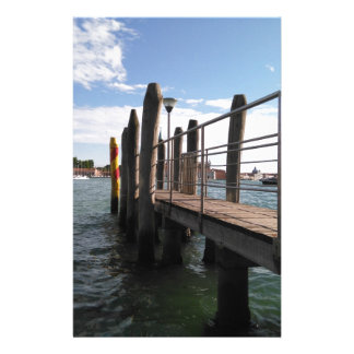 Ready to sail? View along a pier to the water. Stationery