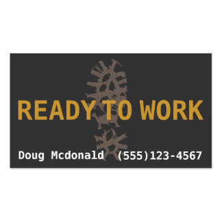 READY TO WORK.Job Search.Make Money.Extra Money Business Card Templates