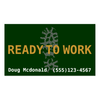 READY TO WORK.Looking for Job.Make Money Business Card