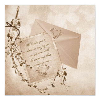 Reaffirmation Of Vows 13 Cm X 13 Cm Square Invitation Card