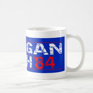 Reagan 84 - distressed basic white mug