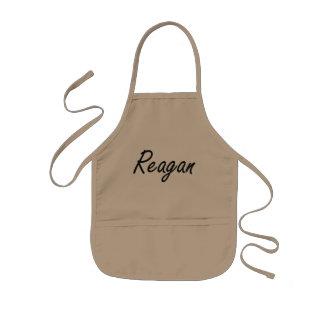 Reagan artistic Name Design Kids Apron