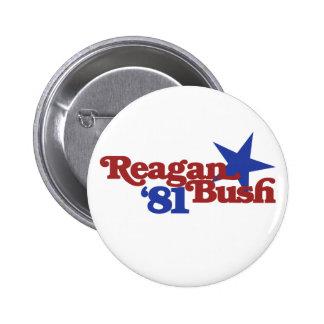 Reagan Bush 1981 Buttons
