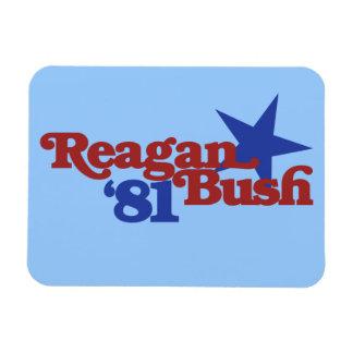 Reagan Bush 1981 Rectangular Magnets