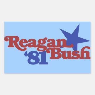 Reagan Bush 1981 Sticker