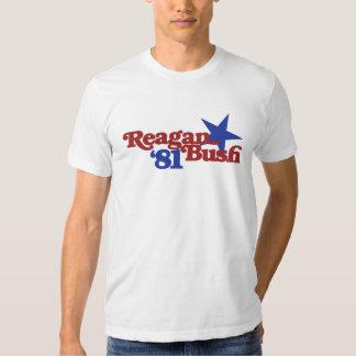 Reagan Bush 81 Tee Shirts