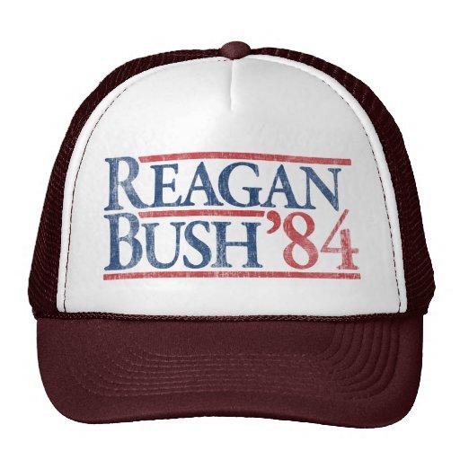 Reagan Bush 84 1984 vintage retro campaign Trucker Hats