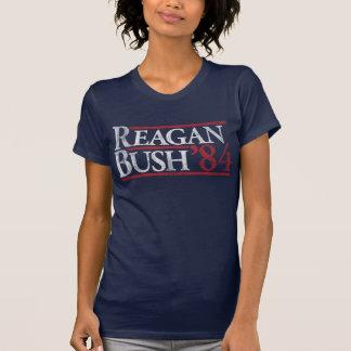 Reagan Bush 84 1984 vintage retro campaign Tshirt