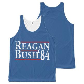 Reagan Bush '84 All-Over Print Tank Top