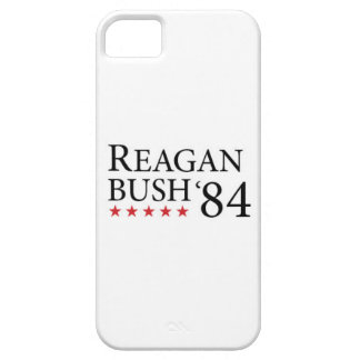 Reagan Bush 84 Black on white 2 Case For The iPhone 5