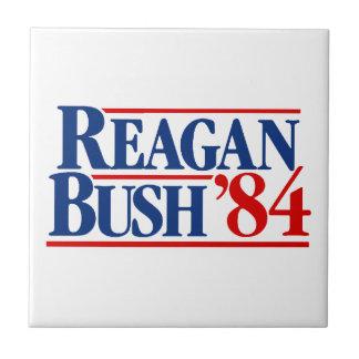 Reagan Bush '84 Campaign Small Square Tile