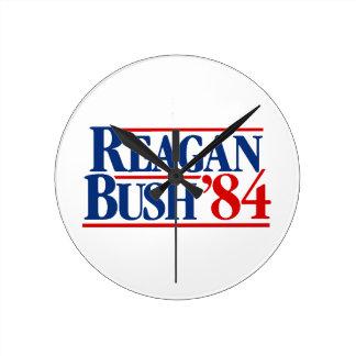 Reagan Bush '84 Campaign Wall Clock