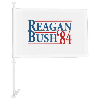 Reagan Bush '84 Car Flag