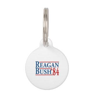 Reagan Bush '84 Pet Name Tag
