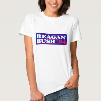 Reagan Bush '84 Stencil T Shirt