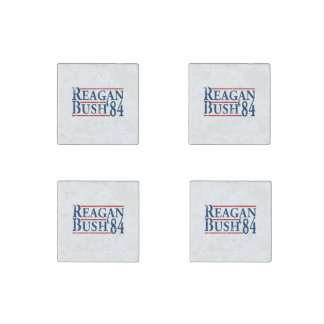 Reagan Bush '84 Stone Magnet