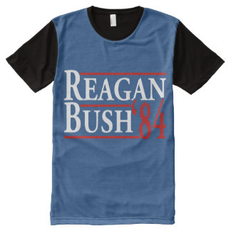 Reagan Bush 84 - white red - -.png All-Over Print T-Shirt