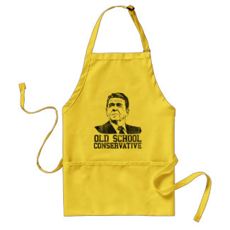 Reagan Bush Old School Conservative vintage tshirt Adult Apron