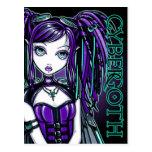 Reagan Cyber Goth Radioactive Fairy Art Postcard