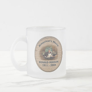 Reagan Hero Glass Frosted Glass Mug