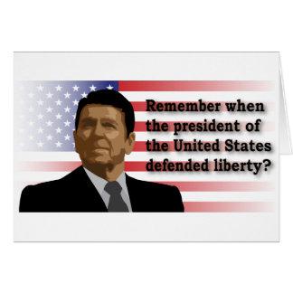 Reagan Liberty gretting card