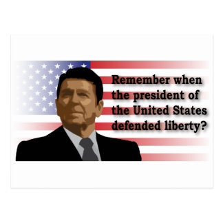 Reagan Liberty postcard