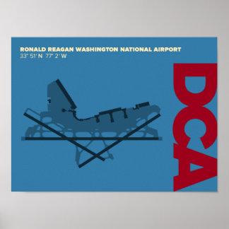 Reagan National Airport (DCA) Diagram Poster