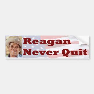 Reagan Never Quit Bumper Sticker
