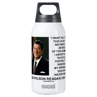 Reagan Not Make Age An Issue Campaign Youth Quote 0.3 Litre Insulated SIGG Thermos Water Bottle