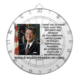 Reagan Not Make Age An Issue Campaign Youth Quote Dartboard
