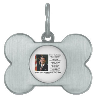 Reagan Not Make Age An Issue Campaign Youth Quote Pet ID Tag