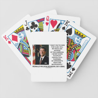 Reagan Not Make Age An Issue Campaign Youth Quote Poker Deck