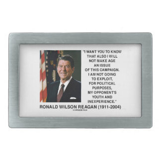 Reagan Not Make Age An Issue Campaign Youth Quote Rectangular Belt Buckles