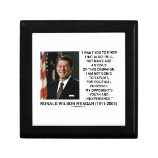 Reagan Not Make Age An Issue Campaign Youth Quote Small Square Gift Box