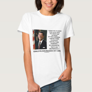 Reagan Not Make Age An Issue Campaign Youth Quote Tshirt