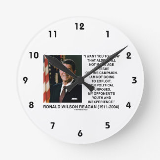 Reagan Not Make Age An Issue Campaign Youth Quote Wallclock