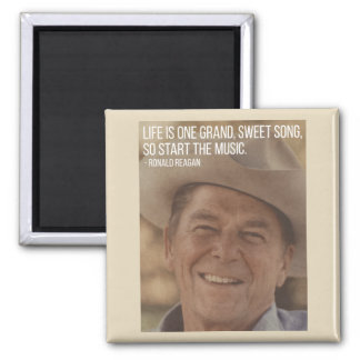 Reagan on Life quote magnet